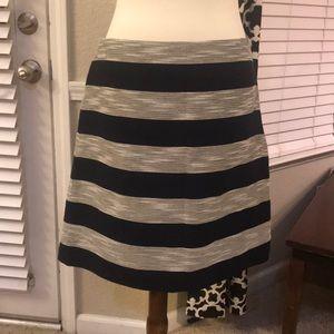 Ann Taylor Loft skirt NWT black & tan size 10